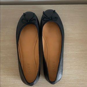 Jcrew leather flats